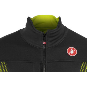Castelli Espresso V Jacket Men dark gray/yellow fluo